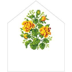 Набір для вишивки бісером Барвиста Вишиванка Спасівська хустинка на букет 20х25 ТР577пн2025k