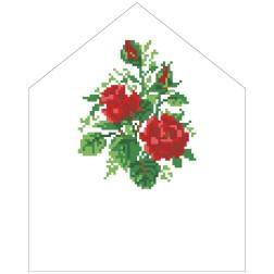 Схема Спасівська хустинка на букет для вишивки бісером і нитками на тканині ТР579пн2025