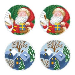 Схеми новорічних іграшок для вишивки бісером на тканині Серія: Ніч чудес ТР595пн3030