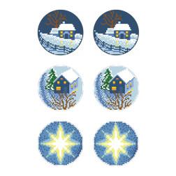 Схеми новорічних іграшок для вишивки бісером на тканині Серія: Ніч чудес ТР596пн2133