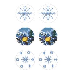 Схеми новорічних іграшок для вишивки бісером на тканині Серія: Ніч чудес ТР597пн2133