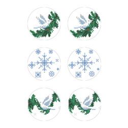 Схеми новорічних іграшок для вишивки бісером на тканині Серія: Ангелики ТР598пн2133