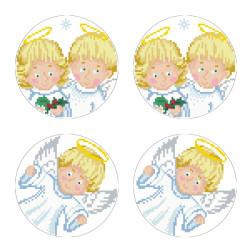 Схеми новорічних іграшок для вишивки бісером на тканині Серія: Ангелики ТР599пн3030