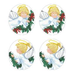 Схеми новорічних іграшок для вишивки бісером на тканині Серія: Ангелики ТР601пн2933