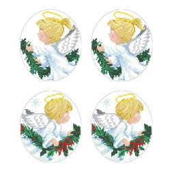 Схеми новорічних іграшок для вишивки бісером на тканині Серія: Ангелики ТР602пн2933