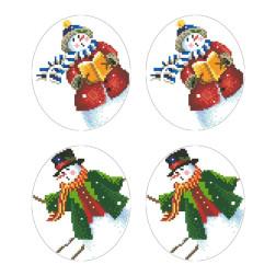 Схеми новорічних іграшок для вишивки бісером на тканині Серія: Сніговики-Колядники ТР606пн2933