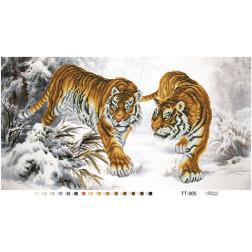 Схема для вишивки бісером Барвиста Вишиванка Уссурійські тигри 65х35 ТТ005пн6535
