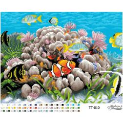 Схема для вишивки бісером Барвиста Вишиванка Підводний світ 46х34 ТТ010пн4634