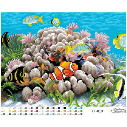 Набір для вишивки бісером Барвиста Вишиванка Підводний світ 46х34 ТТ010пн4634k