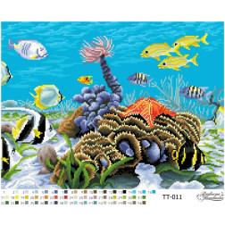 Схема для вишивки бісером Барвиста Вишиванка Підводний світ 46х34 ТТ011пн4634