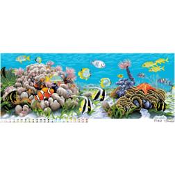 Схема для вишивки бісером Барвиста Вишиванка Підводний світ 94х34 ТТ012пн9234