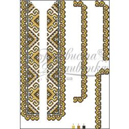 ВД001кБннннb Комплект чеського бісеру Preciosa до дитячої вставки, вишиванки