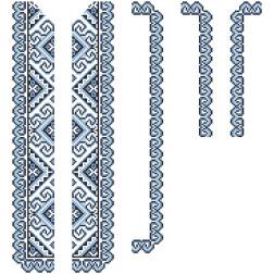 Заготовка дитячої вставки для сорочки на 6-12 років Кучерява безмежність для вишивки бісером ВД002кБнннн