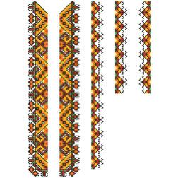 Заготовка дитячої вставки для сорочки на 6-12 років Прикарпаття. Оберіг для вишивки бісером ВД003кБнннн