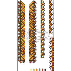 ВД003кБннннb Комплект чеського бісеру Preciosa до дитячої вставки, вишиванки