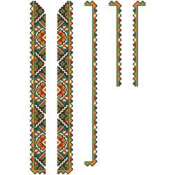 Заготовка дитячої вставки для сорочки на 6-12 років Борщівська квітка для вишивки бісером ВД004кБнннн