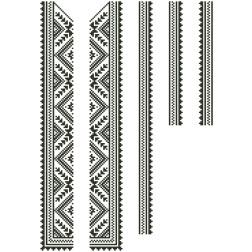 Заготовка дитячої вставки для сорочки на 6-12 років Жито для вишивки бісером ВД006кБнннн