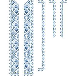 Заготовка дитячої вставки для сорочки на 6-12 років Зірка для вишивки бісером ВД007кБнннн