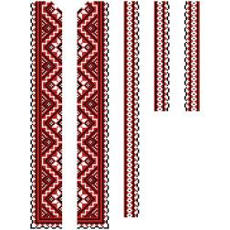 Заготовка дитячої вставки для сорочки на 6-12 років Старовинний орнамент для вишивки бісером ВД008кБнннн