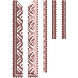 Заготовка дитячої вставки для сорочки на 6-12 років Жито для вишивки бісером ВД009кБнннн
