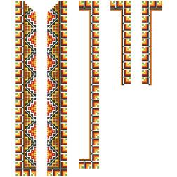 Заготовка дитячої вставки для сорочки на 6-12 років Прикарпаття для вишивки бісером ВД011кБнннн