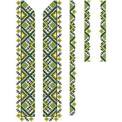 Заготовка дитячої вставки для сорочки на 6-12 років Жито для вишивки бісером ВД013кБнннн