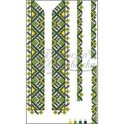 Комплект чеського бісеру Preciosa до дитячої вставки, вишиванки ВД013дБннннb