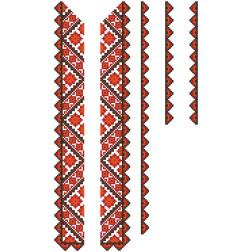 Заготовка дитячої вставки для сорочки на 6-12 років Світанок для вишивки бісером ВД014кБнннн