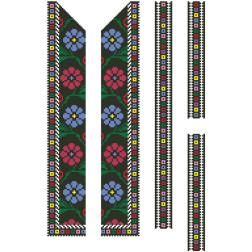 Заготовка дитячої вставки для сорочки на 6-12 років Борщівський край для вишивки бісером ВД065кБнннн