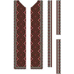 Заготовка дитячої вставки для сорочки на 6-12 років Мамине благословення для вишивки бісером ВД066кБнннн