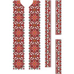 Заготовка дитячої вставки для сорочки на 6-12 років Елегантність для вишивки бісером ВД072кБнннн