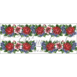 Комплект чеського бісеру Preciosa до жіночої вставки, вишиванки ВЖ003аБннннb