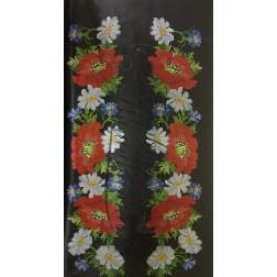 Заготовка для вишивання бісером жіночої вставки, вишиванки ВЖ102аЧнннн