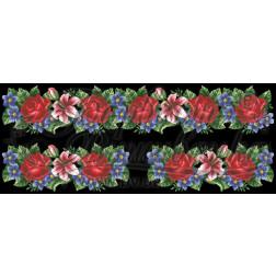 Комплект чеського бісеру Preciosa до жіночої вставки, вишиванки ВЖ302аЧннннb