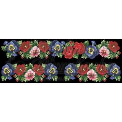 Комплект чеського бісеру Preciosa до жіночої вставки, вишиванки ВЖ402аЧннннb