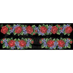 ВЖ502аЧннннb Комплект чеського бісеру Preciosa до жіночої вставки, вишиванки