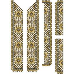 Набір бісеру Preciosa для вишивки бісером до заготовки чоловічої вставки для сорочки Кучерява безмежність ВЧ001дБннннb