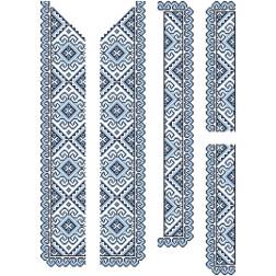 Заготовка чоловічої вставки для сорочки Кучерява безмежність для вишивки бісером ВЧ002кБнннн