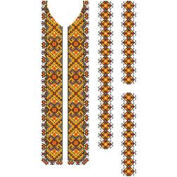 Заготовка чоловічої вставки для сорочки Прикарпаття. Оберіг для вишивки бісером ВЧ003кБнннн