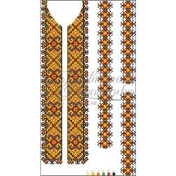 Набір бісеру Preciosa для вишивки бісером до заготовки чоловічої вставки для сорочки Прикарпаття. Оберіг ВЧ003дБннннb
