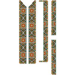 Заготовка чоловічої вставки для сорочки Борщівська квітка для вишивки бісером ВЧ004кБнннн