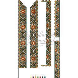 Набір бісеру Preciosa для вишивки бісером до заготовки чоловічої вставки для сорочки Борщівська квітка ВЧ004дБннннb