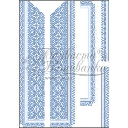 Набір бісеру Preciosa для вишивки бісером до заготовки чоловічої вставки для сорочки Мамина ніжність ВЧ005дБннннb