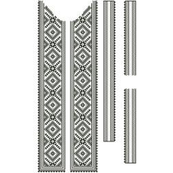 Заготовка чоловічої вставки для сорочки Жито для вишивки бісером ВЧ006кБнннн