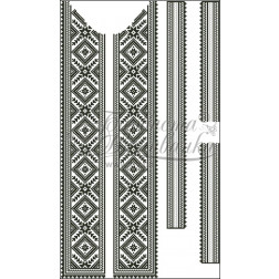 Набір бісеру Preciosa для вишивки бісером до заготовки чоловічої вставки для сорочки Жито ВЧ006дБннннb