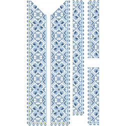 Заготовка чоловічої вставки для сорочки Зірка для вишивки бісером ВЧ007кБнннн