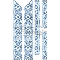 Набір бісеру Preciosa для вишивки бісером до заготовки чоловічої вставки для сорочки Зірка ВЧ007дБннннb