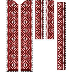 Заготовка чоловічої вставки для сорочки Старовинний орнамент для вишивки бісером ВЧ008кБнннн