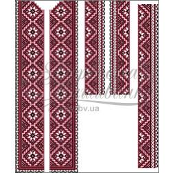 Набір бісеру Preciosa для вишивки бісером до заготовки чоловічої вставки для сорочки Старовинний орнамент ВЧ008дБннннb