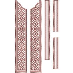 Заготовка чоловічої вставки для сорочки Жито для вишивки бісером ВЧ009кБнннн